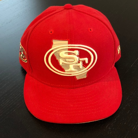 34258ec9ef0 San Francisco 49ers NFL New Era 59Fifty Hat. M 5aee8073daa8f60944cc1ea3